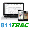811TRAC Utility Management Solutions:  Expandable Utilities Infrastructure Management App Logo