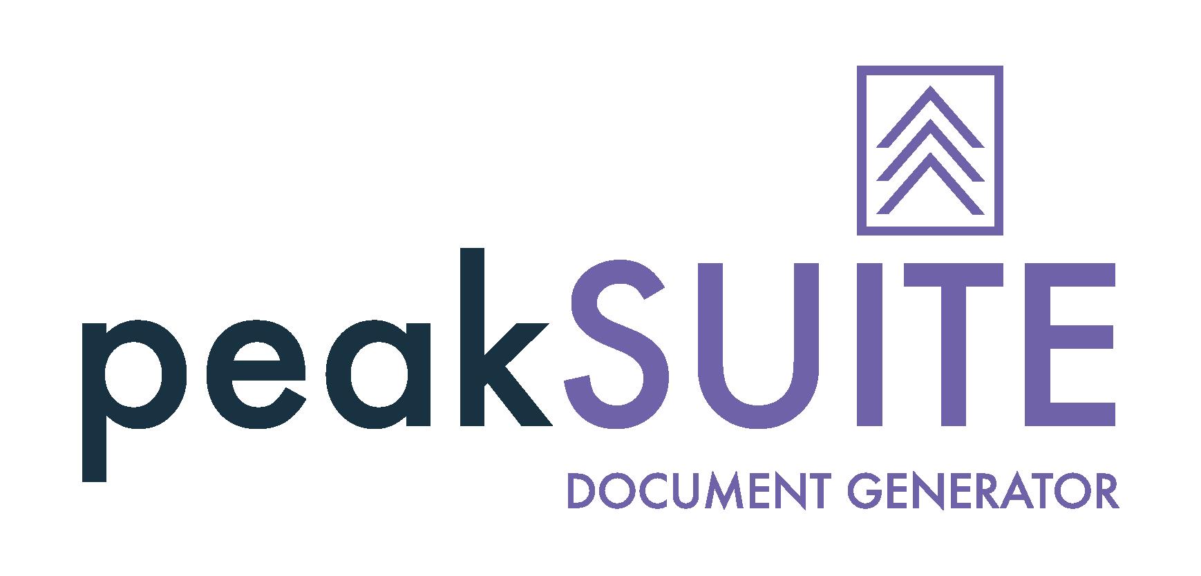 peakSUITE Document Generator App Logo